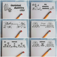 Magnetic A6 notepad, magnetic gigglydoodles notepad,
