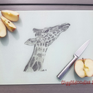 Giraffe glass chopping board, giraffe worktop space saver