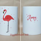 Flamingo mug, personalised flamingo mug