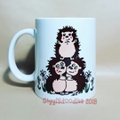 Hedgehog mug, personalised hedgehog mug