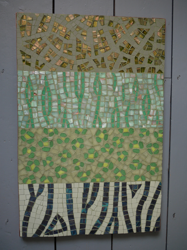 """Jungle Camouflage"" mosaic panel (price includes postage)"