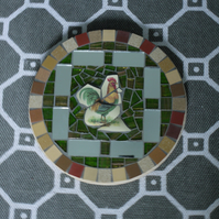 Cockerel mosaic panel (price includes postage)