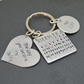New Daddy Keyring, personalised keyring, Fathers day keyring