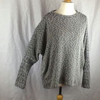 Loose long sleeve baggy jumper grey-silver  size 10-12