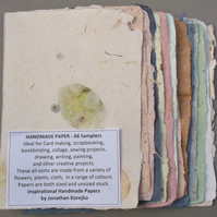 A6 Samplers of Handmade Paper