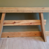 Handmade rustic console table