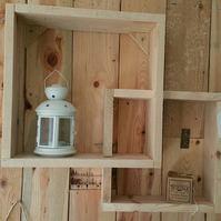 Handmade box shelving