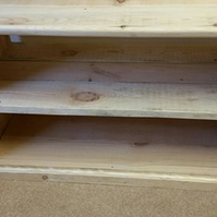 Rustic TV media unit as dividing shelf