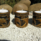 elephant indian style candle holders set of 3