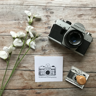 Vintage Camera Stamp with your business name