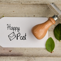 25mm Happy Post Stamp