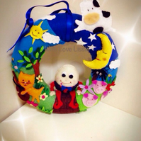 Handmade nursery rhyme wreath