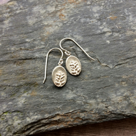Heather Charm - For Protection. Sterling Silver Dangle Earrings