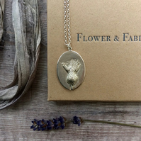 Thistle Pendant - For Endurance. Sterling Silver Pendant & Necklace