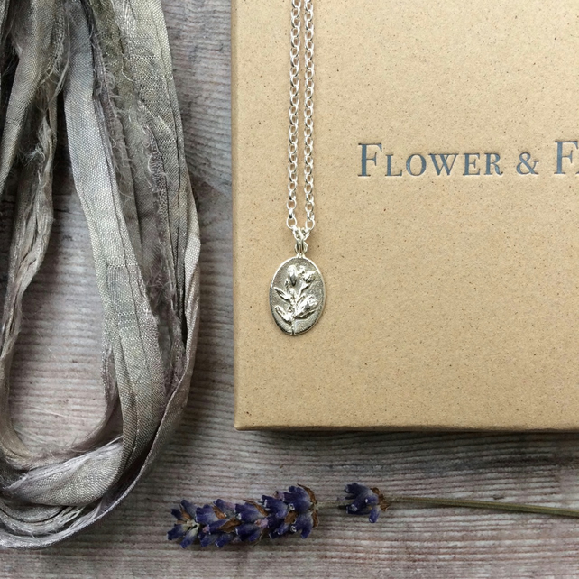 Speedwell Pendant - For Travel. Sterling Silver Adjustable Charm Necklace