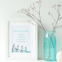 Home Sweet Home - Wall Art - Quote - Illustrated Print