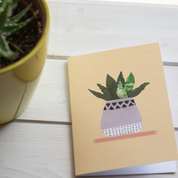 Aloe Vera! Blank Illustrated Greeting Card