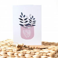 Thinking of You! - Botanically Inspired Blank Greetings Card