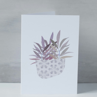 Purple Leaves - Botanical Inspired Greeting Card