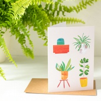 Houseplant Love ! - Botanical Inspired Blank Greeting Card