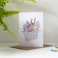 Purple Leaves - Modern Botanical Inspired Greeting Card