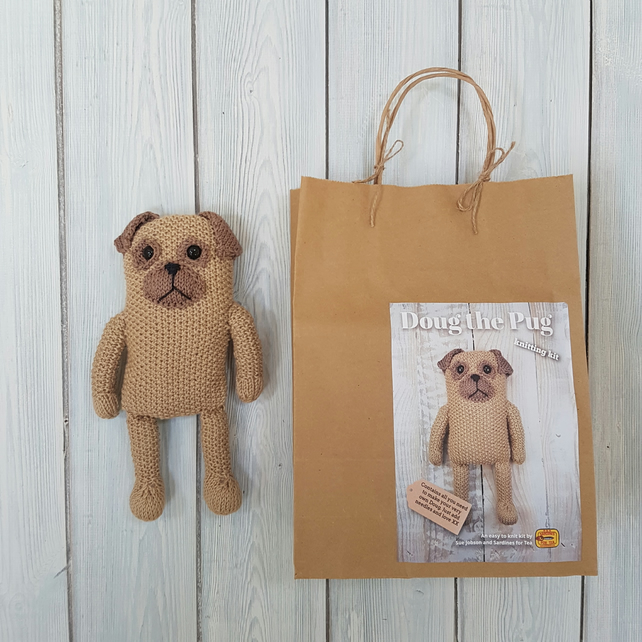 Doug the Pug Knitting Kit - Make Your Very Own ... - Folksy