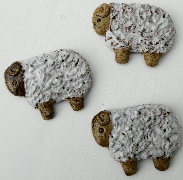 Three sheep fridge magnets