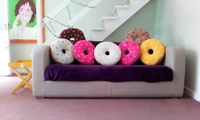 Plush Fleece Donut Cushions