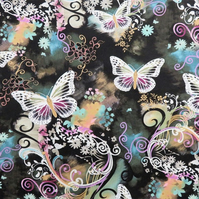 Michael Miller USA Filigree Flutter 100% Cotton Fabric Dressmaking Craft Metre