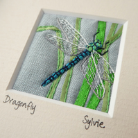 Dragonfly - embroidered picture