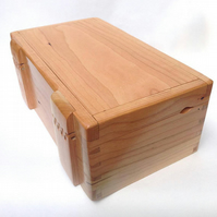 Handmade fine jewellery cherry box, customisable in wood, interior and function