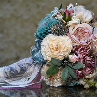 Fabric and brooch bouquet