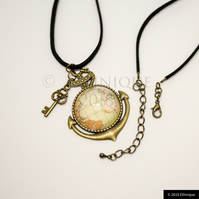 Steampunk Nautical Themed Necklace, Ethical & Vegan Vintage Pirate Jewellery