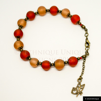 Art Nouveau Inspired Beaded Bracelet, Ethical Contemporary Jewellery