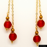 Art Nouveau Inspired Beaded Earrings, Ethical Contemporary Jewellery