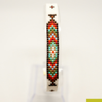 Native American Style Beaded Bracelet - Unisex Loom Gift for Him or For Her