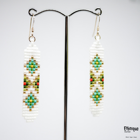 Native American Style Nature Themed Earrings with Gold Filled Ear Wires