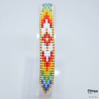 Native American Style Loom Beaded Bracelet - Ethical Unisex Jewellery