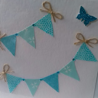 Bunting Card Blank For Any Occasion
