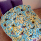 Crochet dolls blanket 1:12 scale single
