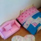 1:12 Dolls house bedding and rug.