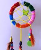 Create your own Rainbow Dreamcatcher - Arty Party children's gift bag
