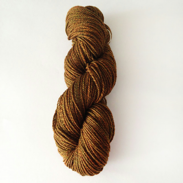 Handspun Falklands Merino and Zwartbles in Russet