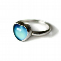 Color Changing Vintage Mood Sterling Silver Ring