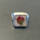 Old Country Roses Broken China Sterling Silver Ring