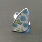 Blue Vintage Broken China Statement Ring