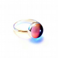 Color Changing Mood Stone Sterling Silver Ring