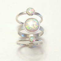 Synthetic Opal Ring Set for Women