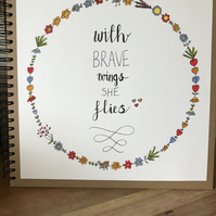 Large hand lettered and illustrated scrapbook