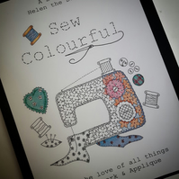 Sew Colourful - Adult Colouring Book